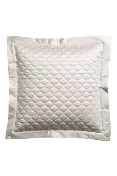 Quilted cushion cover - Silver-coloured/Dark grey - Home All | H&M CN