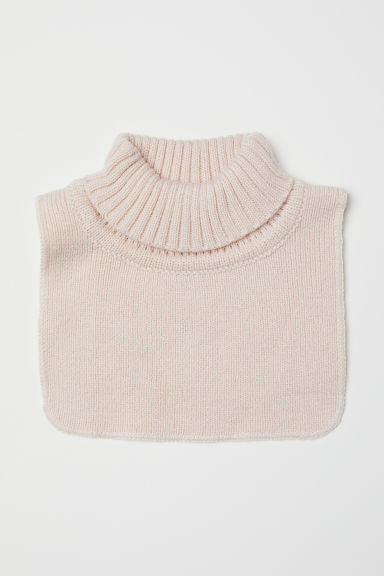 Knitted polo-neck collar - Powder pink - Kids | H&M CN