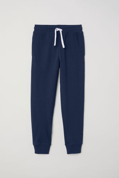 Cotton jersey joggers - Dark blue - Kids | H&M CN