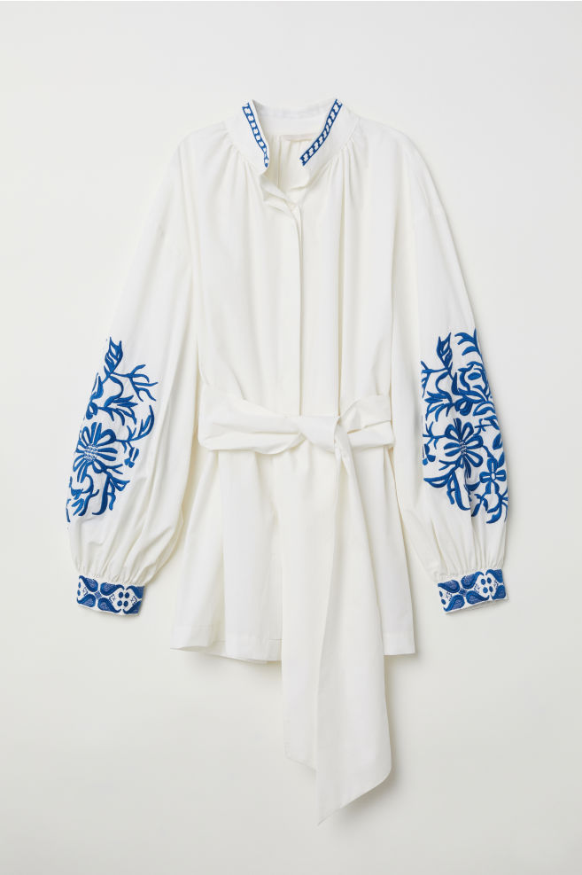 8ad85dcc5fd33 Blouse with embroidery - Cream - Ladies