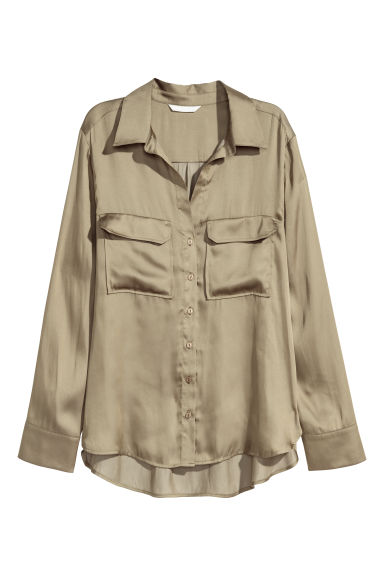 Shirt - Khaki green - Ladies | H&M CN