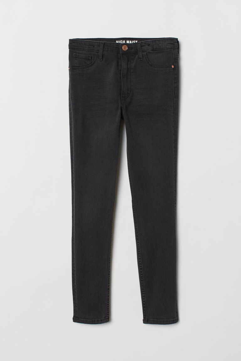 Skinny Fit Generous Size Jeans - Schwarz Washed out - KINDER | H&M CH