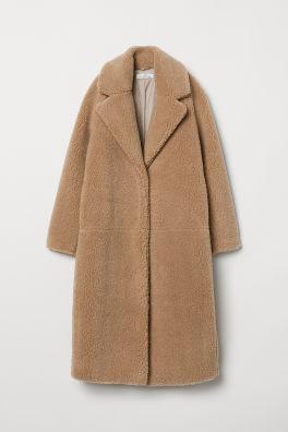 d5faa16a6d Dlhý plyšový kabát