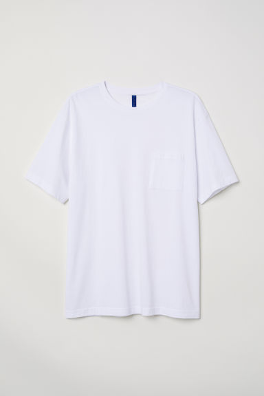 Wide T-shirt - White -  | H&M CN