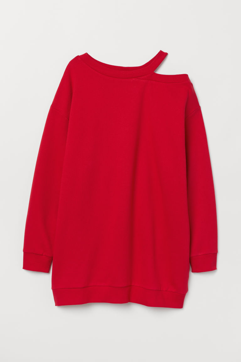Oversized sweatshirt - Red -  | H&M CN