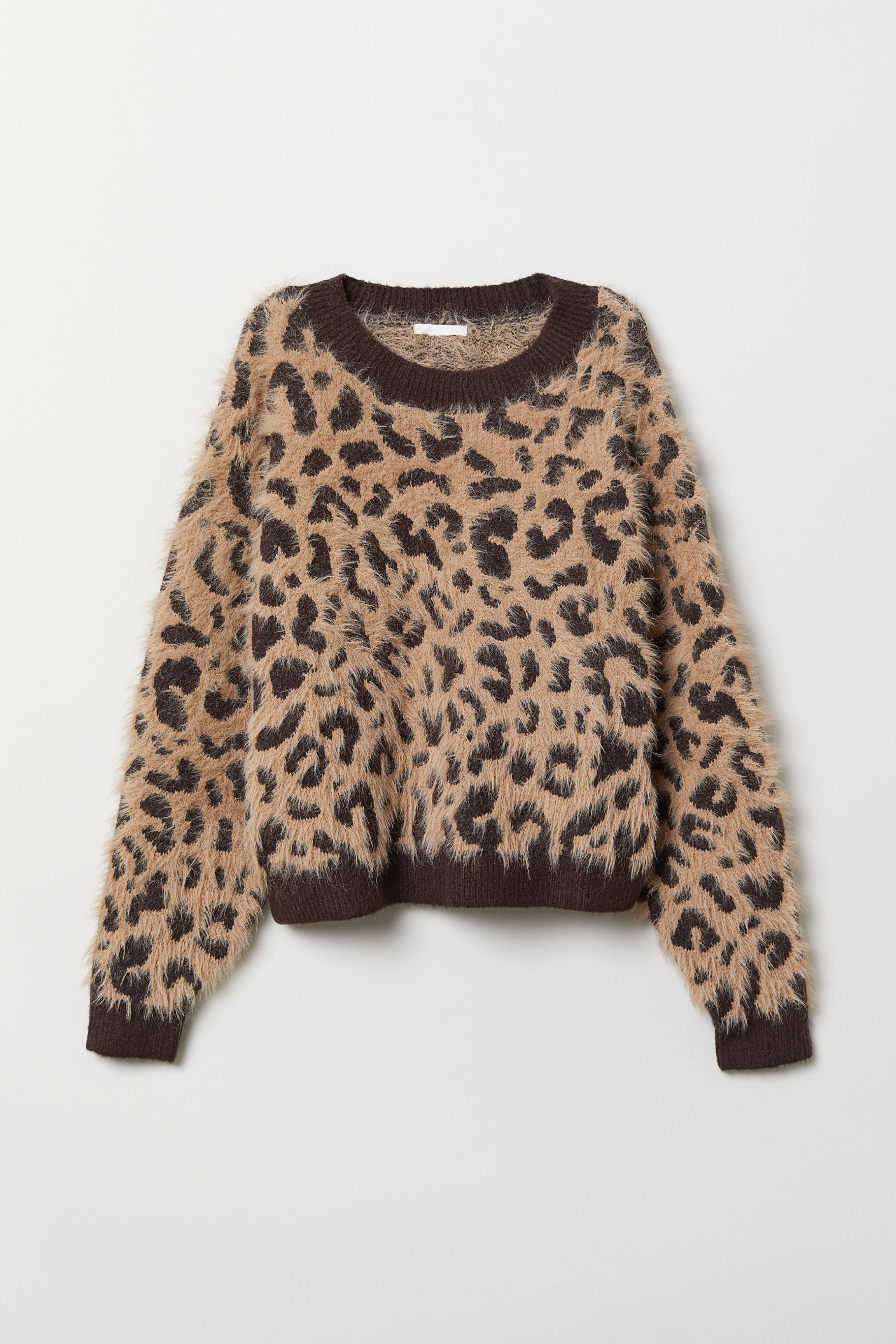 b5c7ed0587 Pullover in Musterstrick - Beige/Leopardenmuster - Ladies   H&M AT