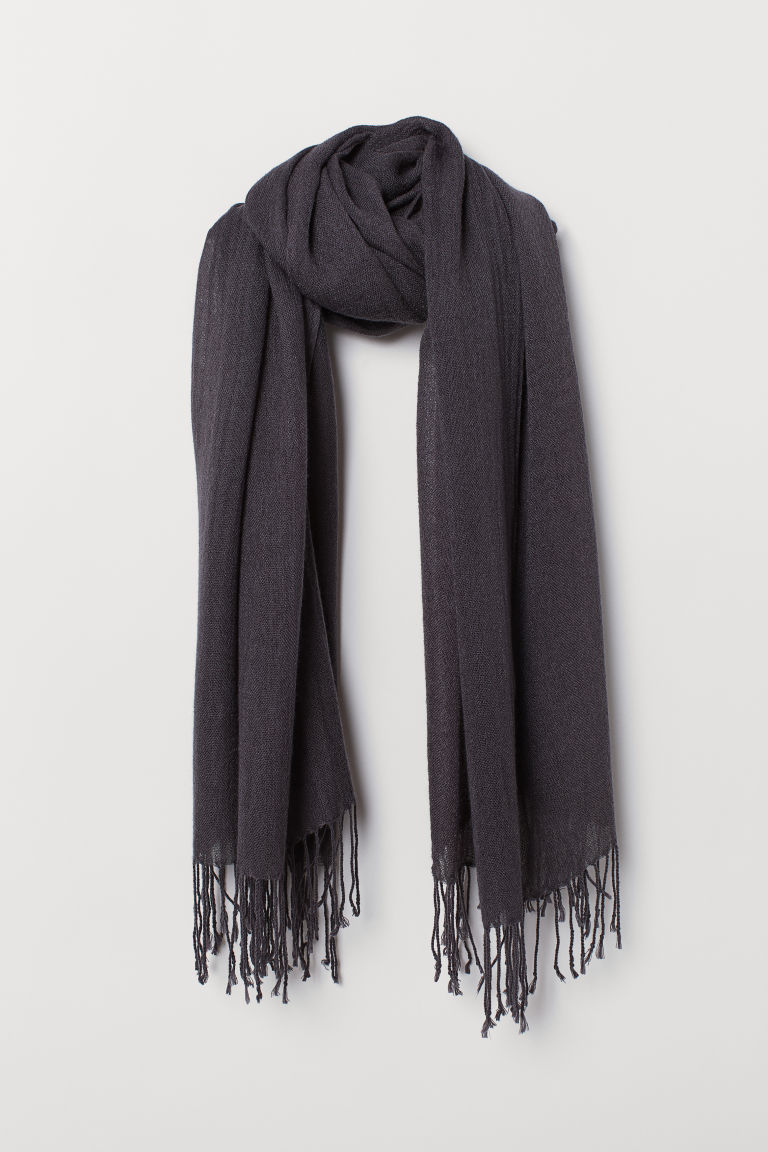 Woven Scarf - Dark gray - Ladies | H&M US