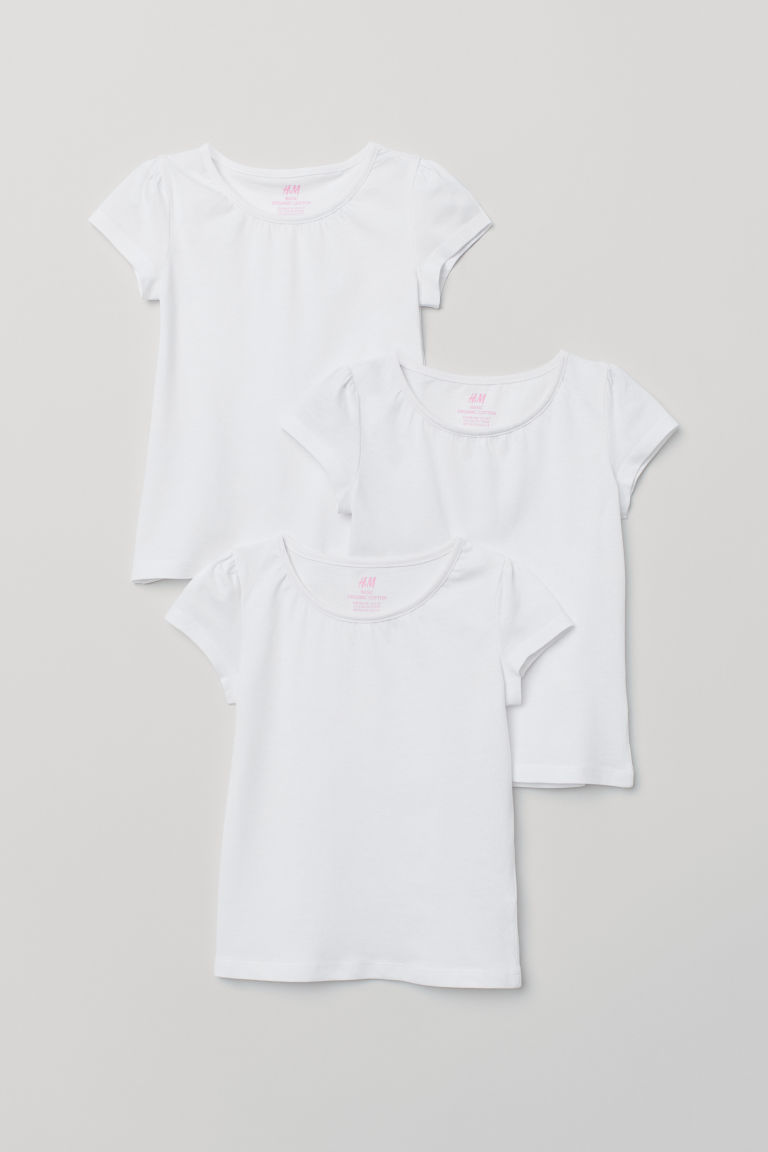 3-pack jersey tops - White - Kids | H&M