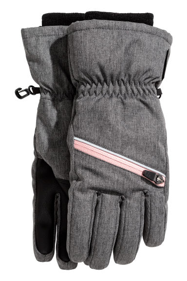 Ski gloves - Dark grey marl - Kids | H&M CN