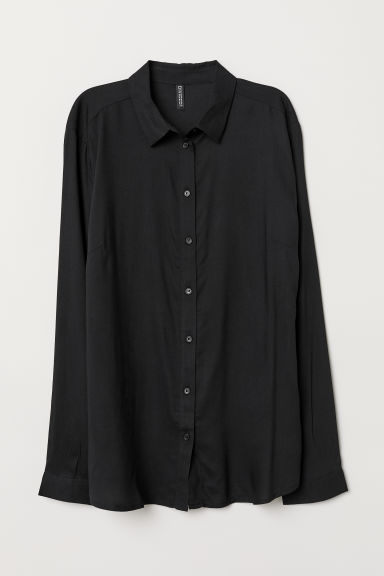 Camicia in viscosa - Nero -  | H&M IT