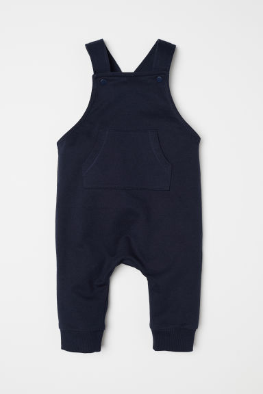 Cotton dungarees - Dark blue - Kids | H&M
