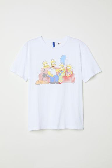 T-shirt with a motif