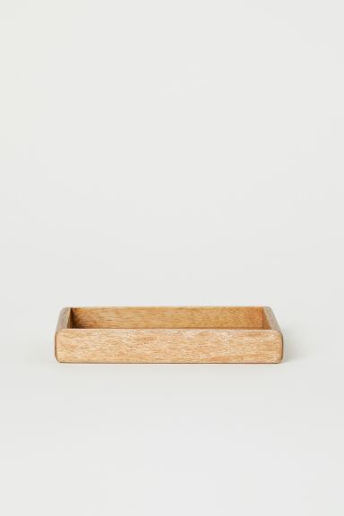 Small wooden tray - Brown/Mango wood - Home All | H&M CN