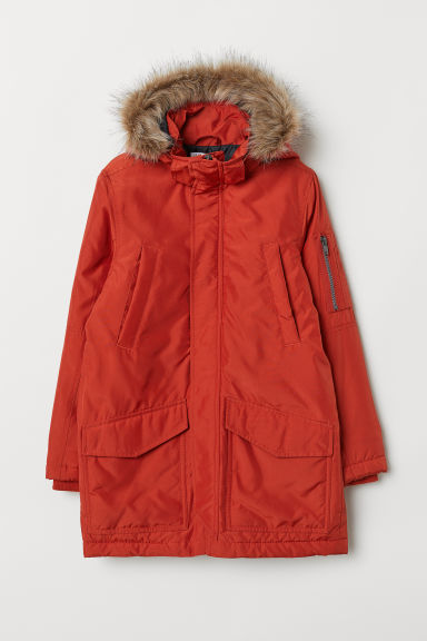 Padded parka - Dark orange - Kids | H&M IE