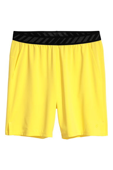 Short sports shorts - Yellow - Men | H&M CN