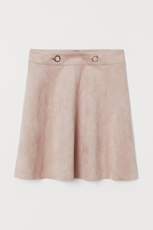 Short Faux Suede Skirt