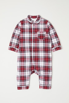 Checked all-in-one pyjamas