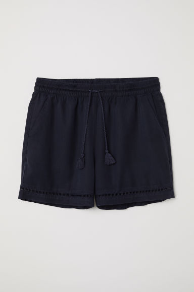 Shorts in lyocell - Blu scuro - DONNA | H&M IT