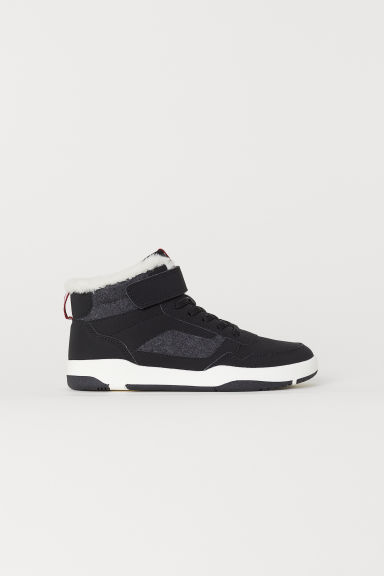 Pile-lined hi-tops - Black - Kids | H&M CN