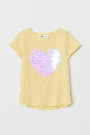 Reversible sequin T-shirt
