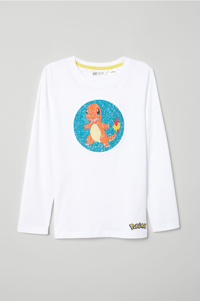 2e2633b8 Shirt with Motif - White/Pokémon - Kids | H&M ...