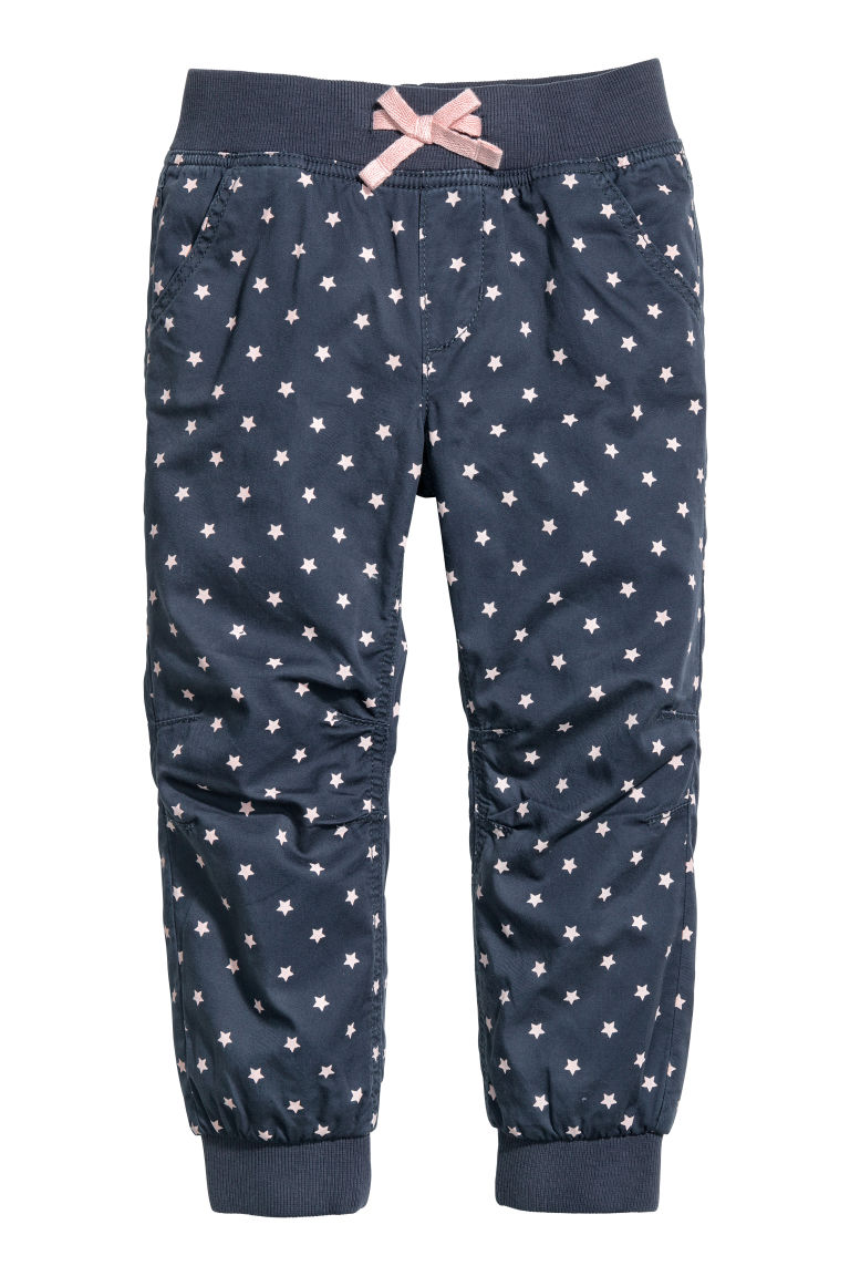 Pull-on trousers - Dark blue/Stars - Kids | H&M