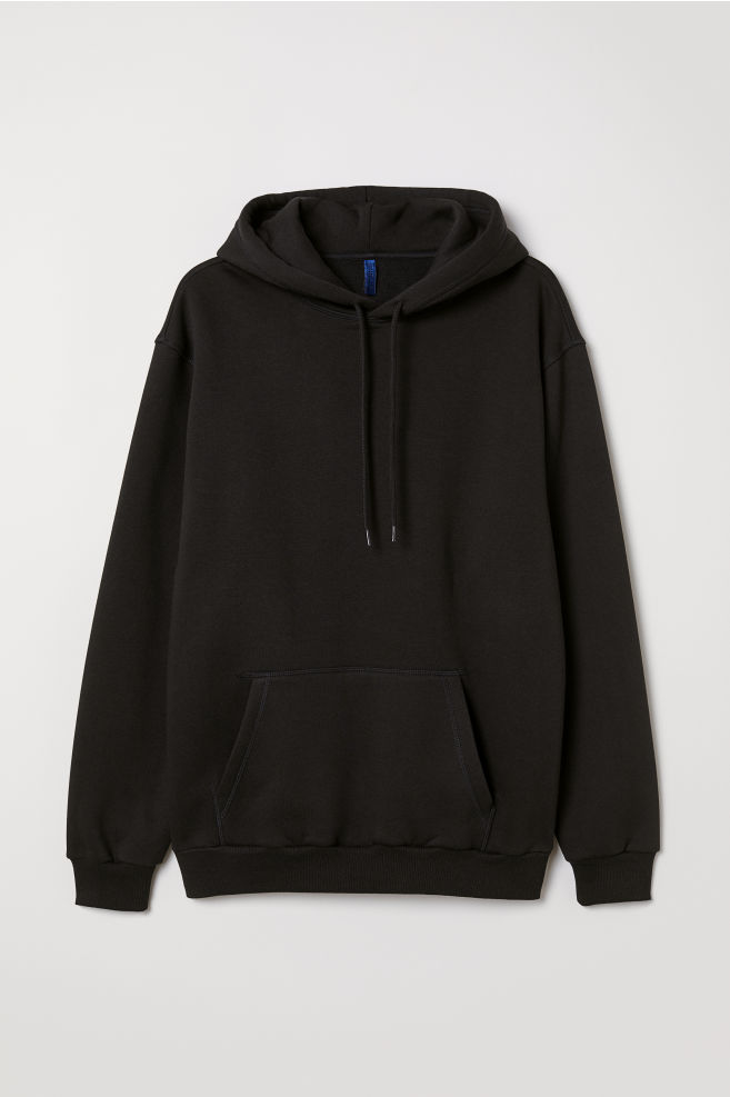 827e4d0e0 Hooded Sweatshirt - Black - Men | H&M ...