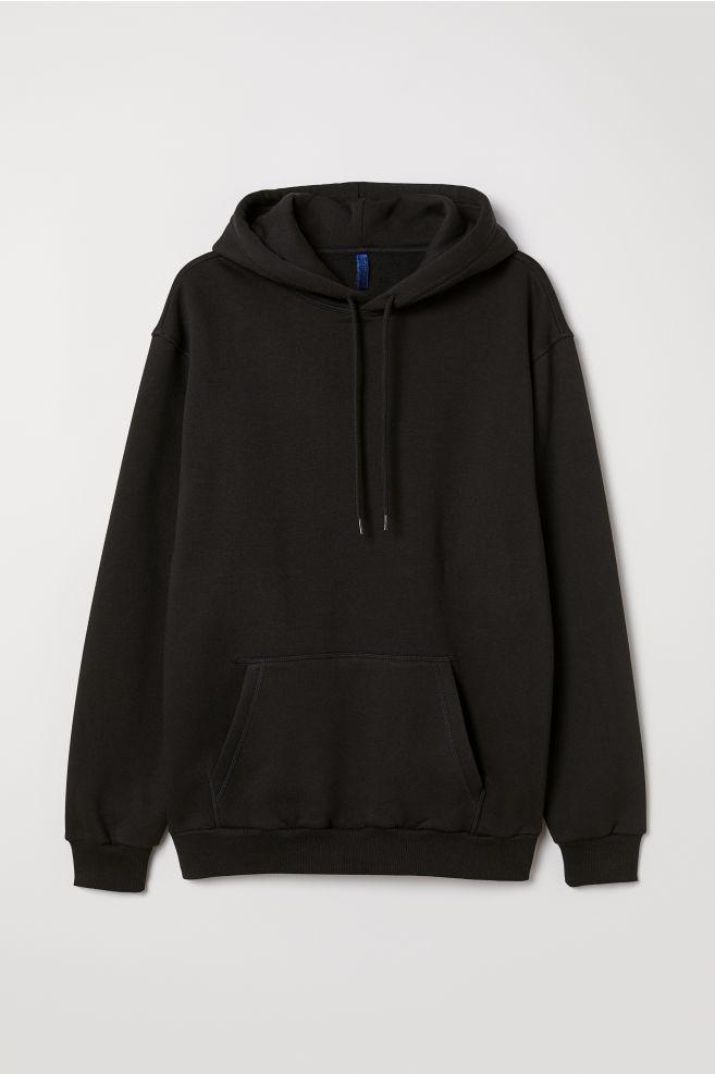 Hooded Sweatshirt - Black - Men  49495b609