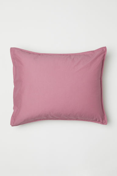 Washed cotton pillowcase - Pink - Home All | H&M CN