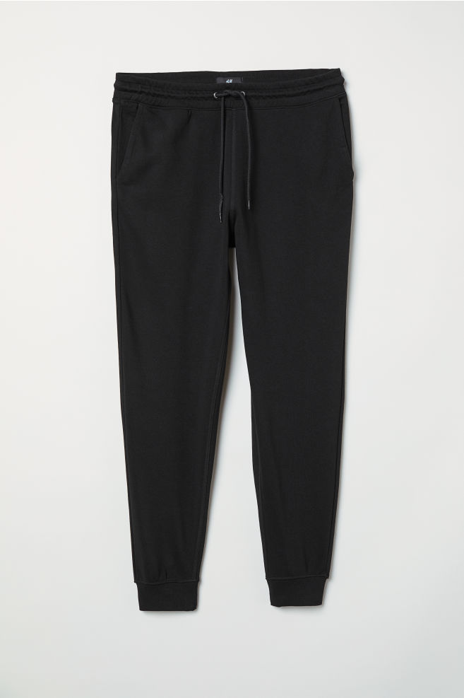 7e43b3b66 Slim Fit Sweatpants - Black - Men | H&M ...