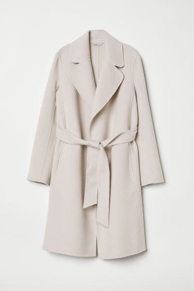 Wool-blend coat - Light beige - Ladies | H&M