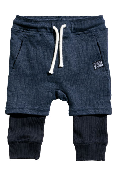 Jersey trousers - Dark blue - Kids | H&M CN