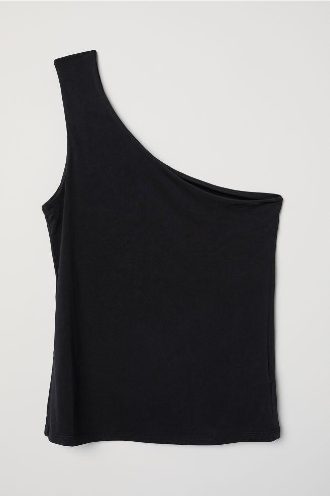 36ff4ecad60390 One-shoulder Top - Black - Ladies | H&M ...