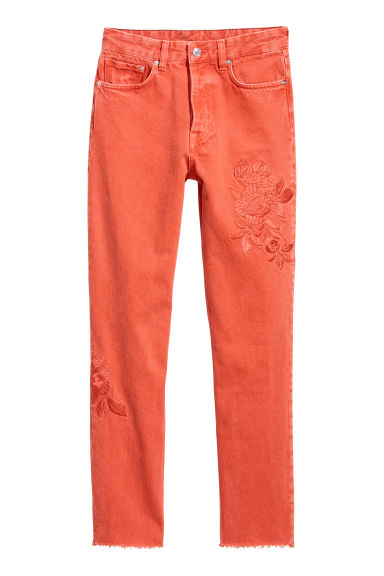 Vintage High Ankle Jeans - Rust red - Ladies | H&M