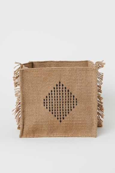 Jute storage basket - Beige/Jute - Home All | H&M CN