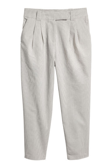Trousers - Natural white/Striped - Ladies | H&M