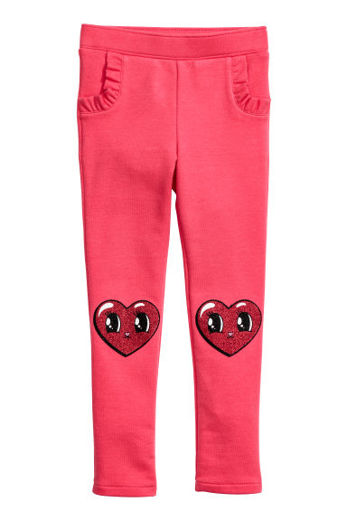 Jersey treggings - Raspberry red/Hearts -  | H&M CN