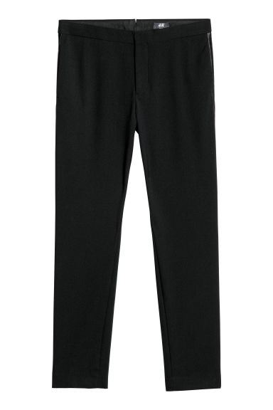 Tuxedo trousers Slim fit - Black - Men | H&M