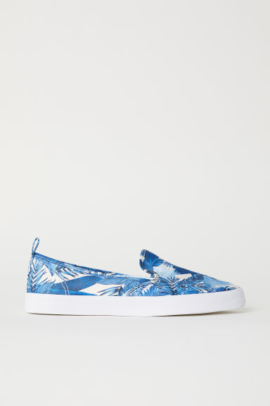 Slip-on trainers - Blue/Satin -  | H&M CN