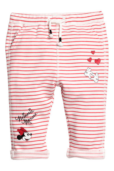 Joggers - White striped/Minnie Mouse - Kids | H&M CN