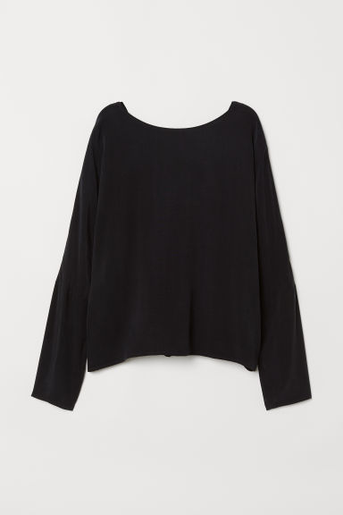 Cupro-blend blouse - Black - Ladies | H&M