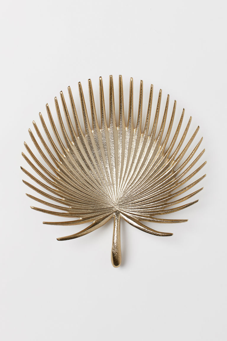 Leaf-shaped dish - Gold-coloured -  | H&M GB