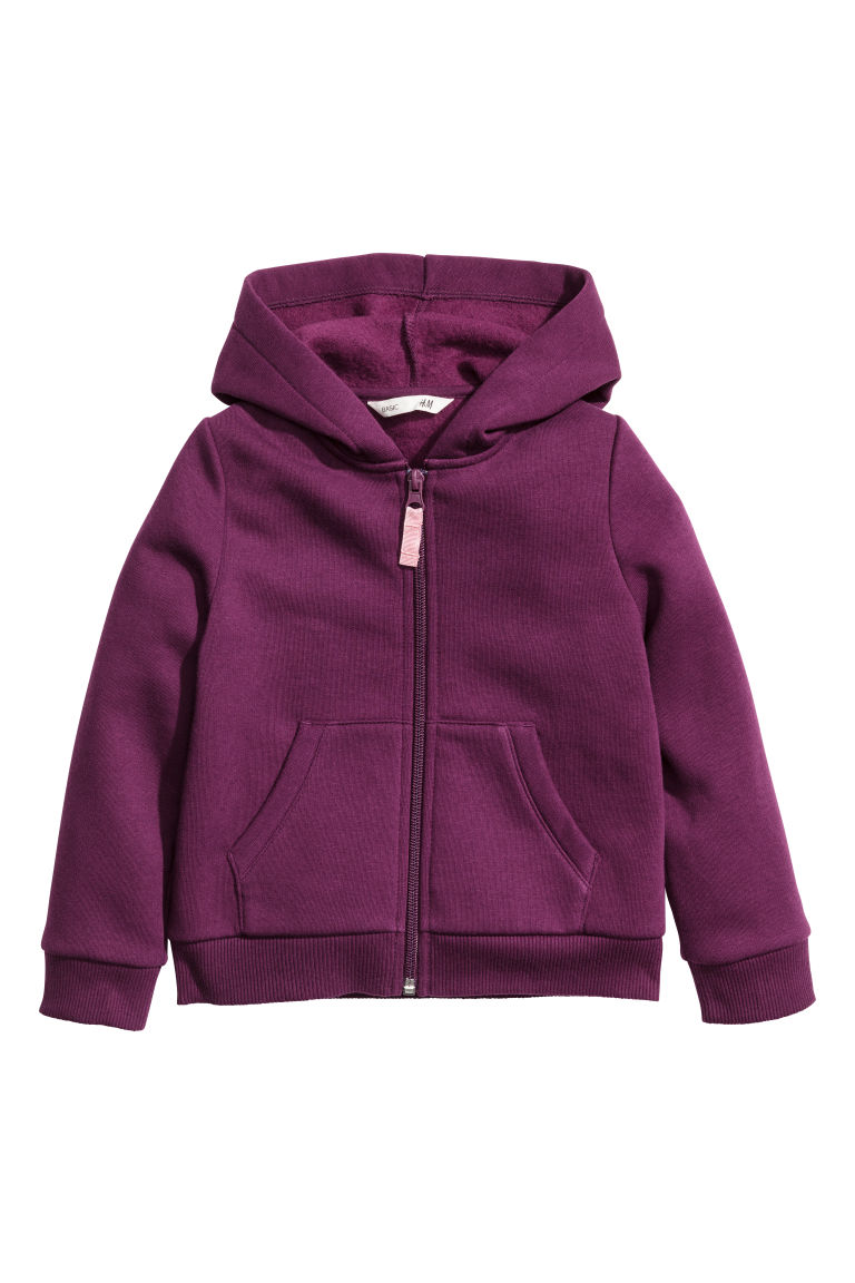 Hooded jacket - Dark purple - Kids | H&M