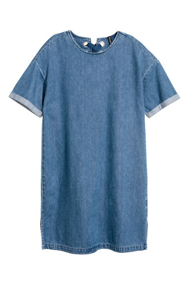 Denim T-shirt dress - Denim blue -  | H&M