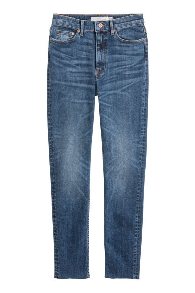 Slim Ankle High Jeans - デニムブルー - Ladies | H&M JP