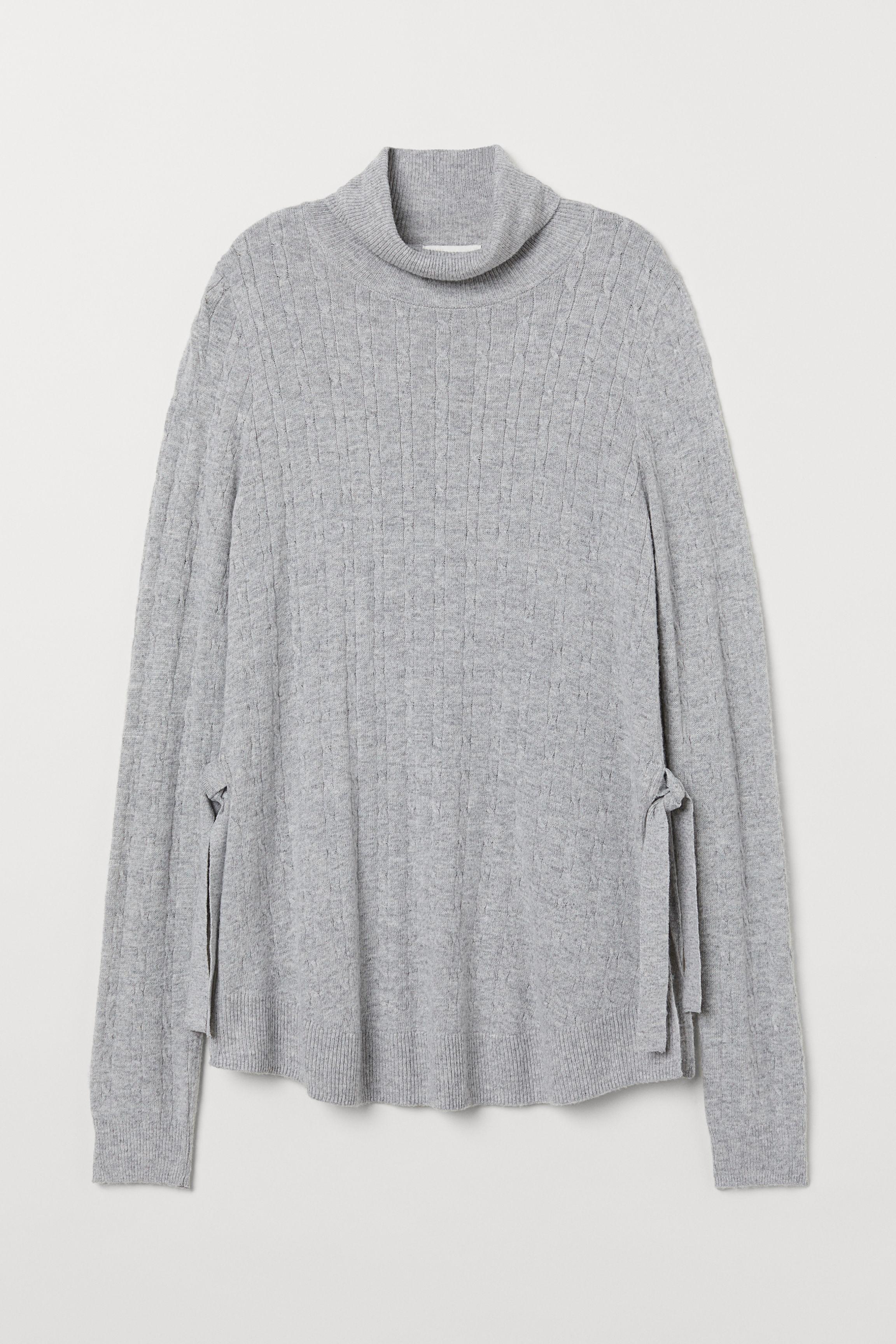 301a716c4a MAMA Knit Nursing Sweater - Light gray melange - Ladies