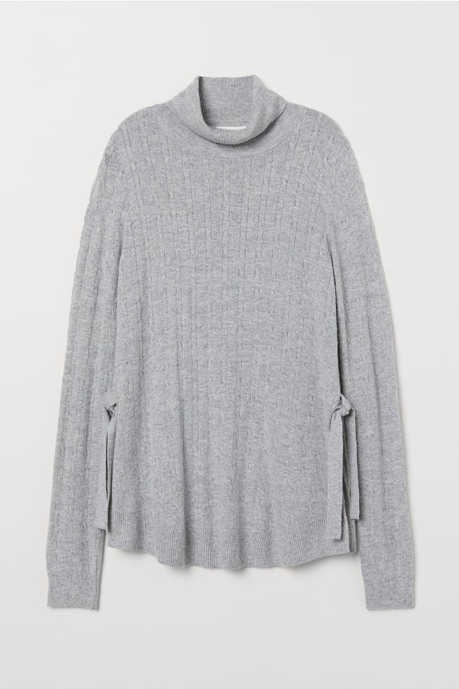 c58a88902d325 MAMA Knitted nursing jumper - Light grey marl - Ladies | H&M 1