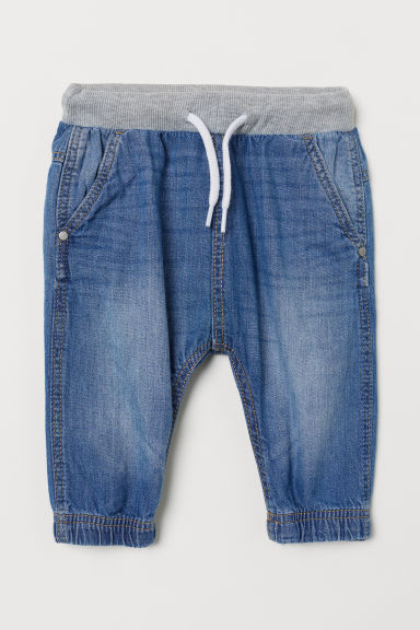 Denim pull-on trousers - Denim blue - Kids | H&M CN