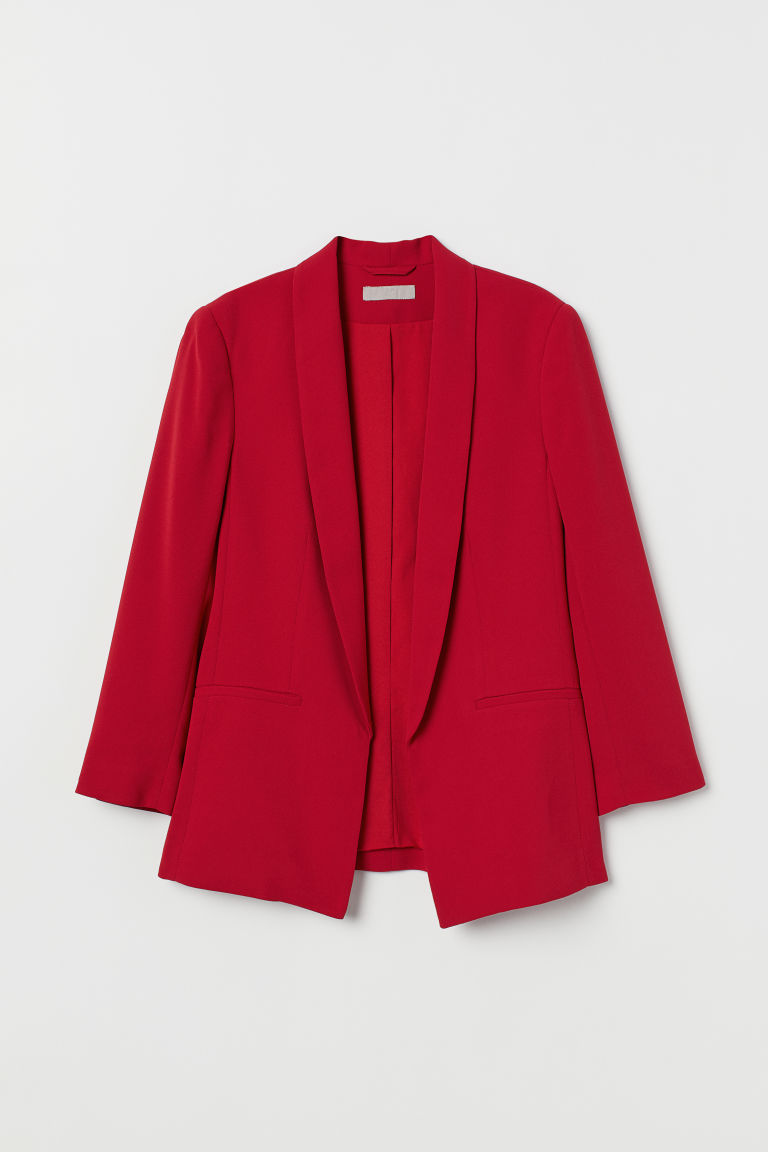 Straight-cut jacket - Red - Ladies | H&M CN