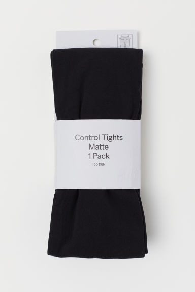 100 denier control-top tights - Black - Ladies | H&M